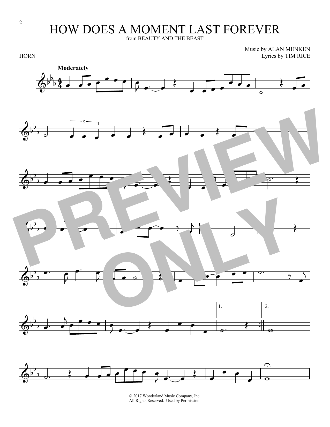 How Does A Moment Last Forever (French Horn Solo)
