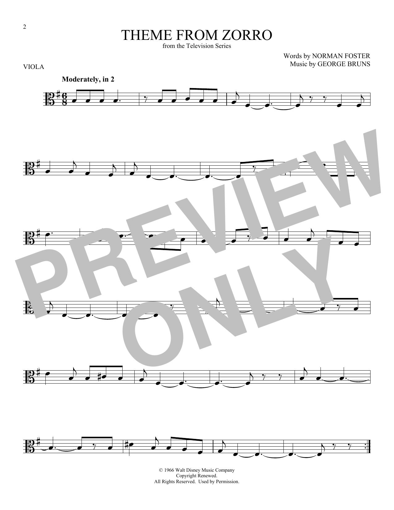 Theme From Zorro (Viola Solo)