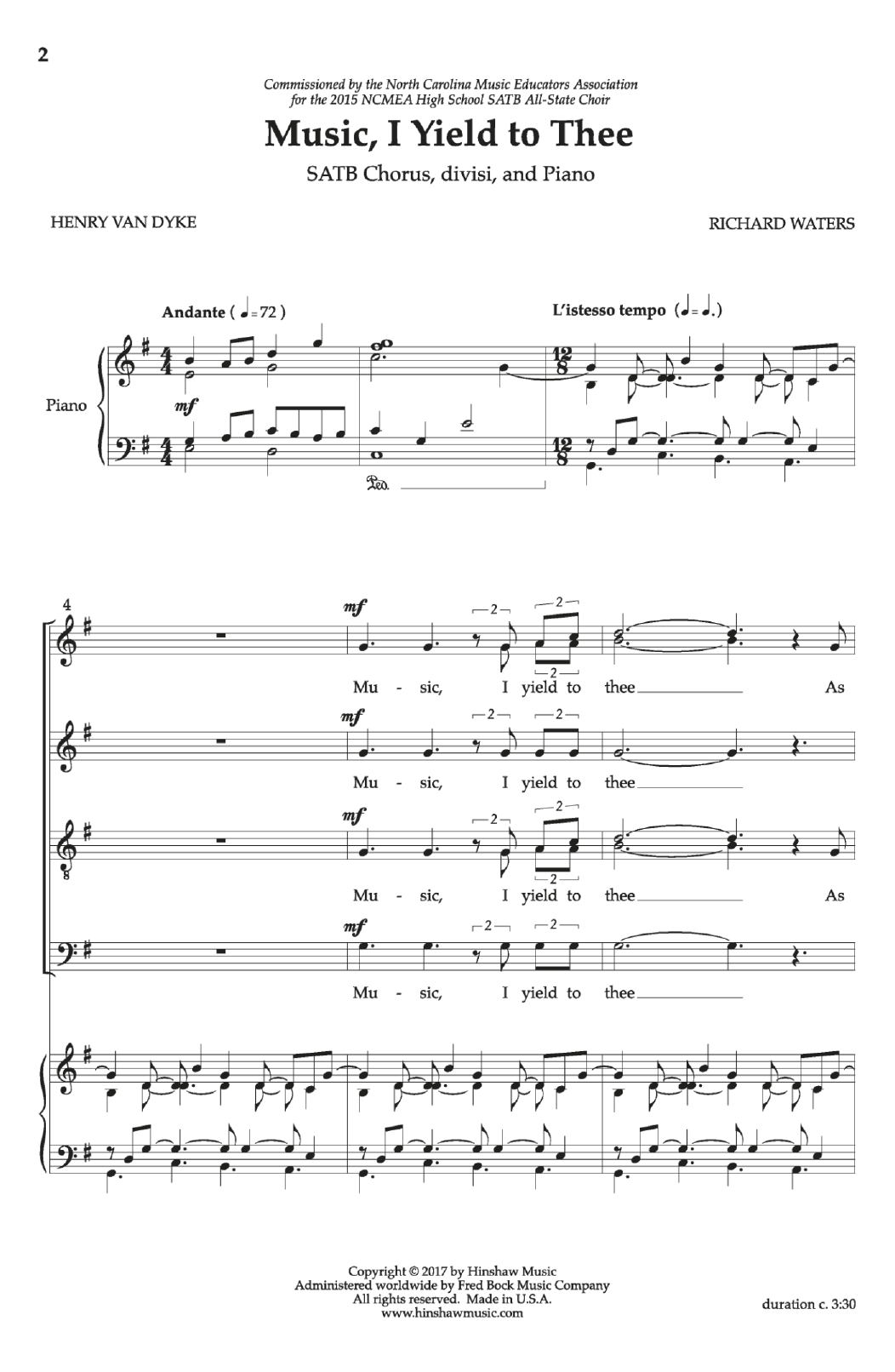 Music, I Yield to Thee Sheet Music