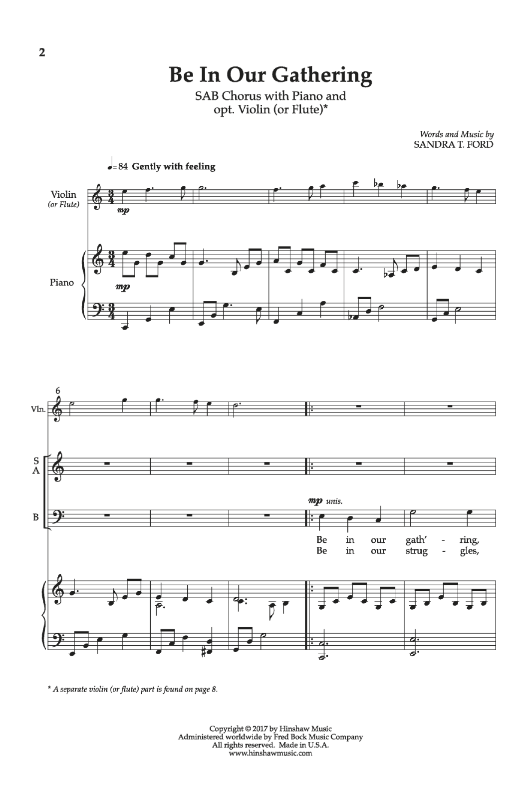Be in Our Gathering Sheet Music