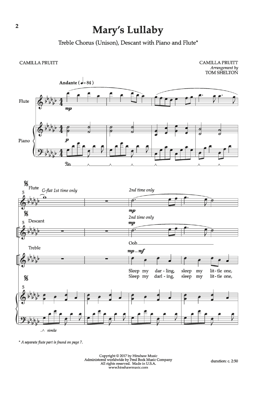 Mary's Lullaby Sheet Music