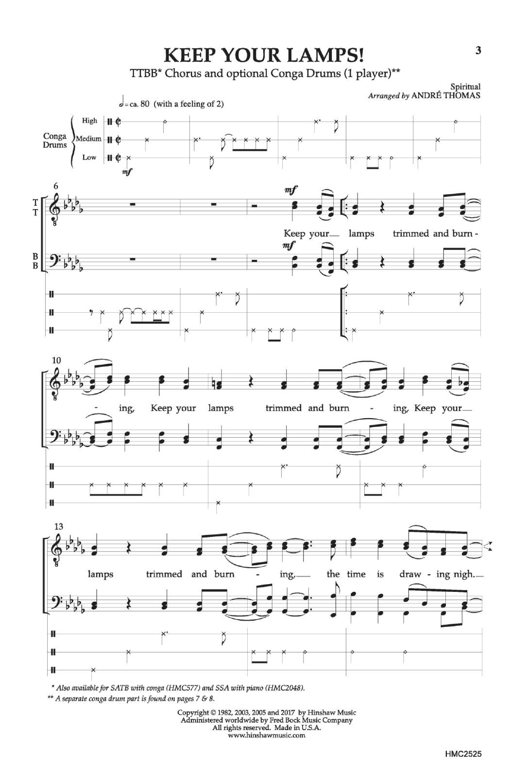 Keep Your Lamps! Sheet Music