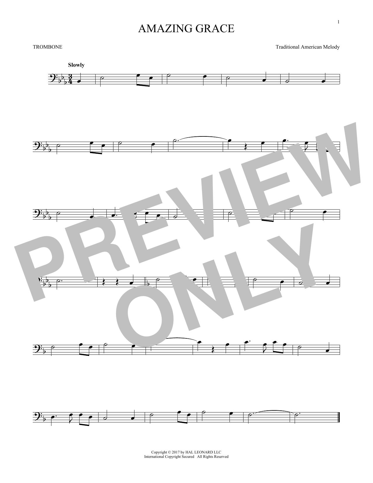 Amazing Grace (Trombone Solo)