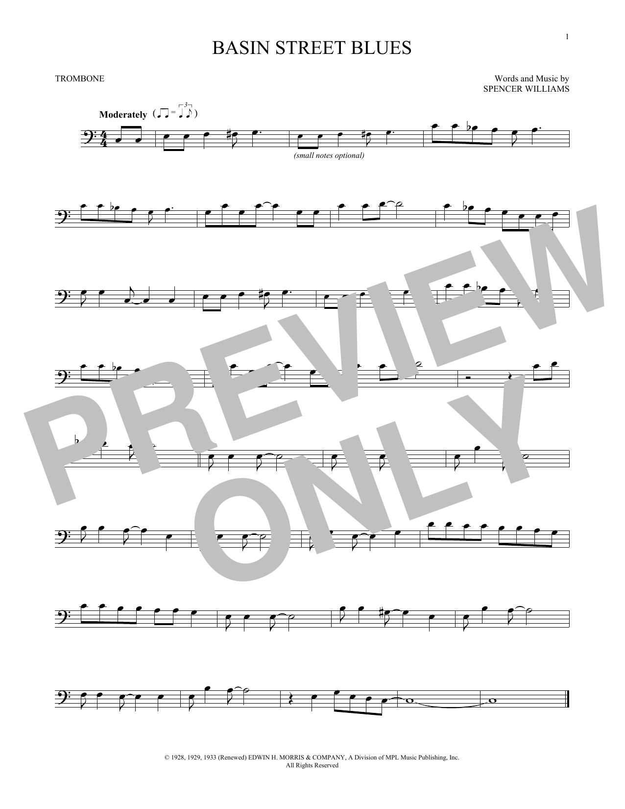 Basin Street Blues (Trombone Solo)