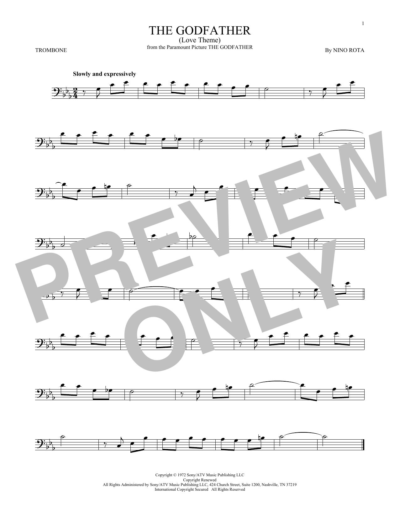 The Godfather (Love Theme) (Trombone Solo)