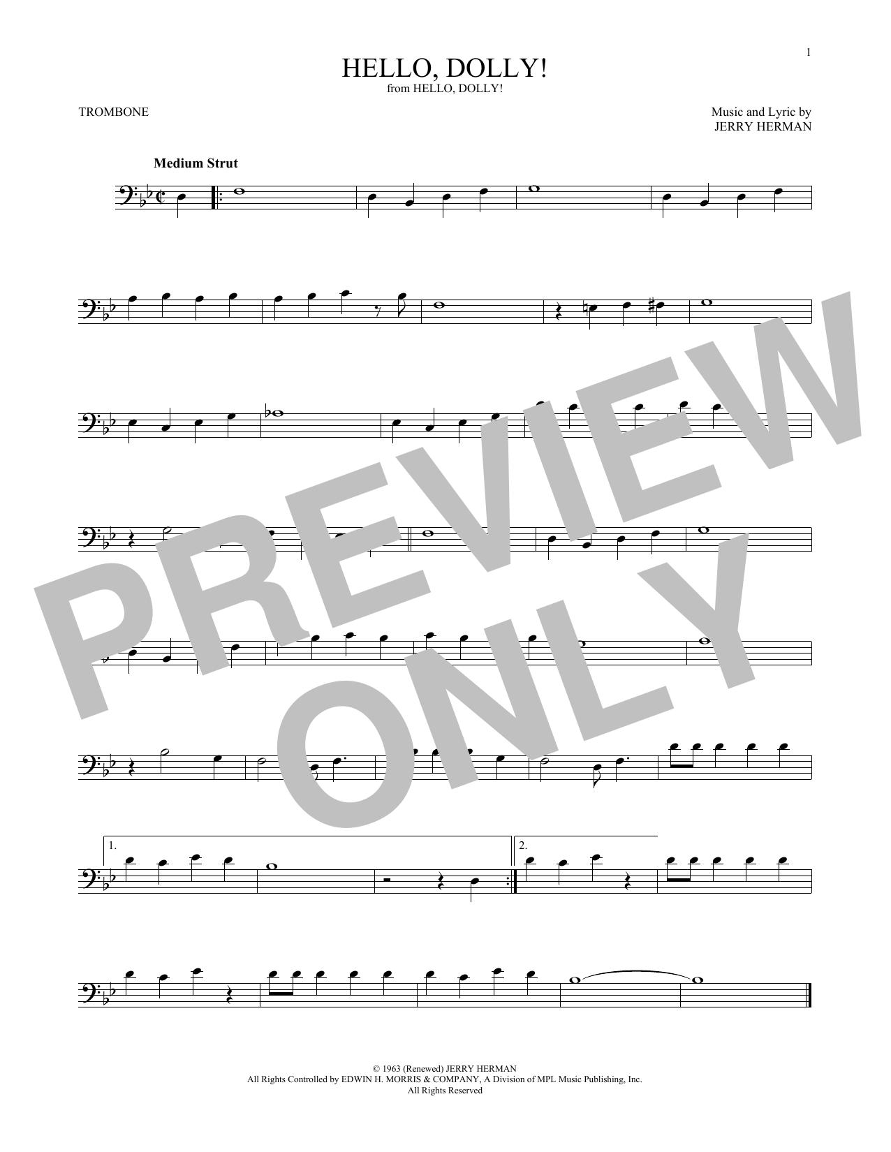 Hello, Dolly! (Trombone Solo)