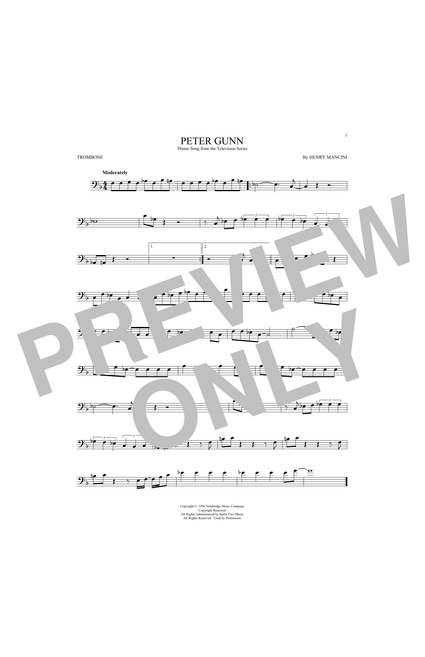 Peter Gunn (Trombone Solo)