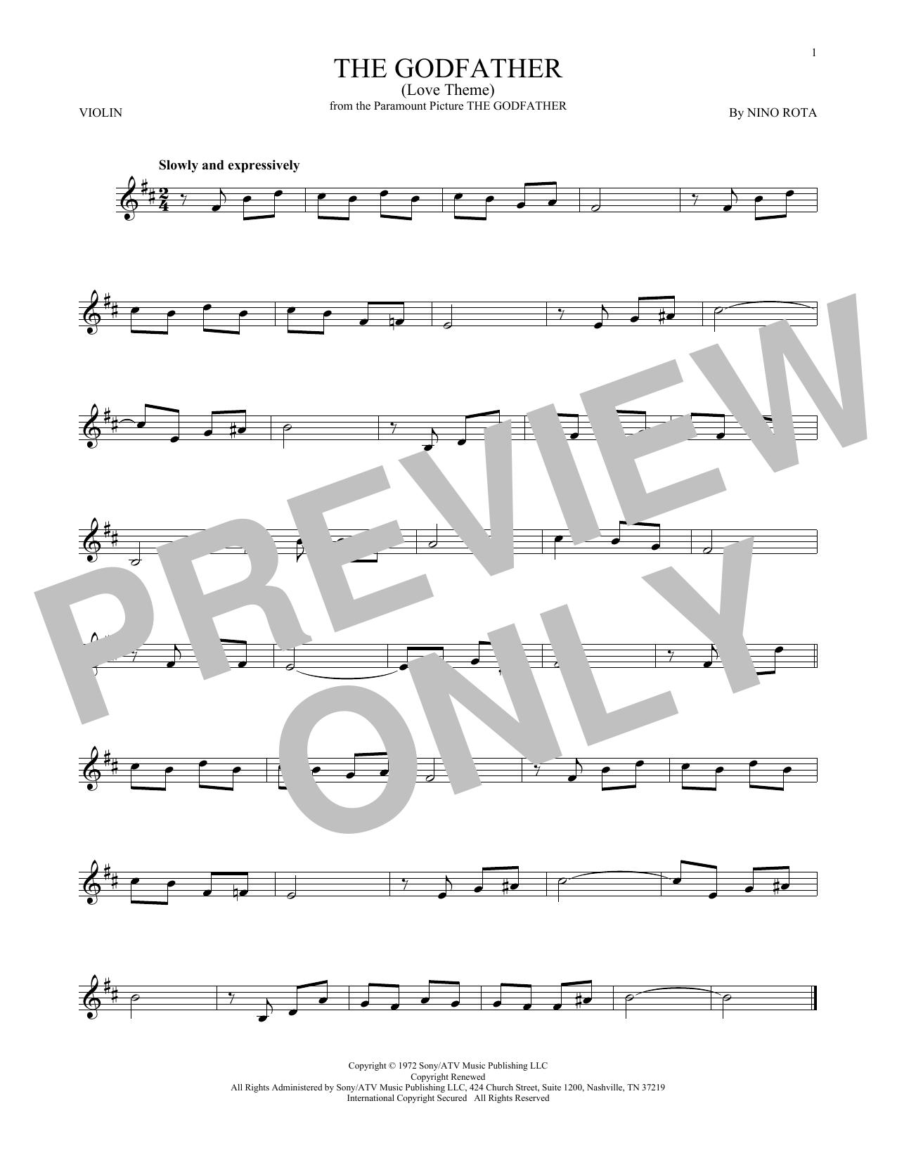 The Godfather (Love Theme) (Violin Solo)