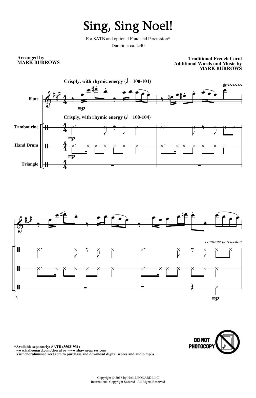 Sing, Sing Noel! Sheet Music
