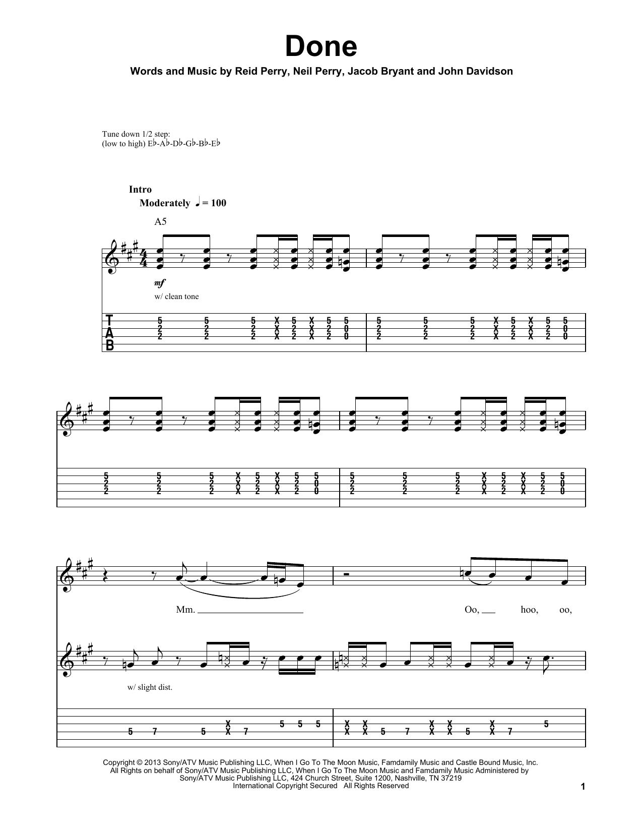 Done (Guitar Tab (Single Guitar))