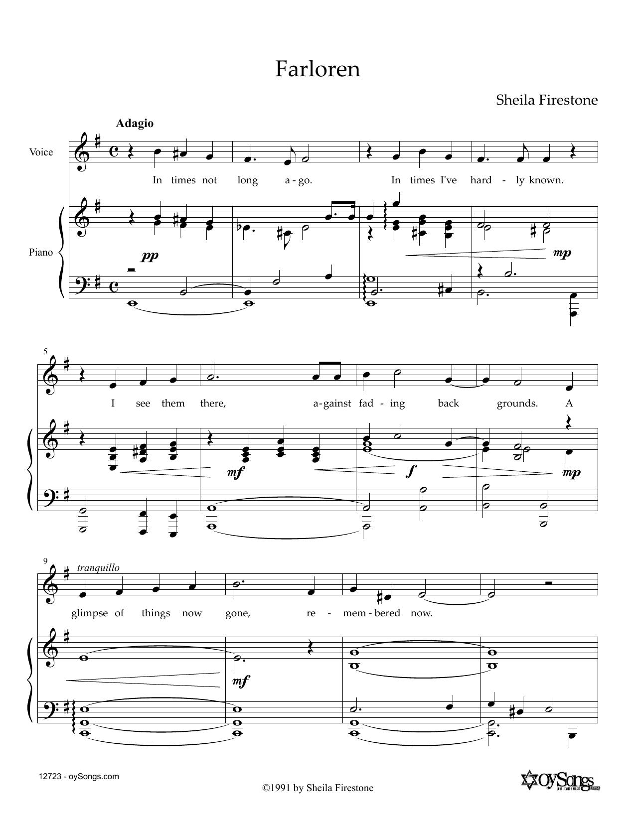 Farloren Sheet Music