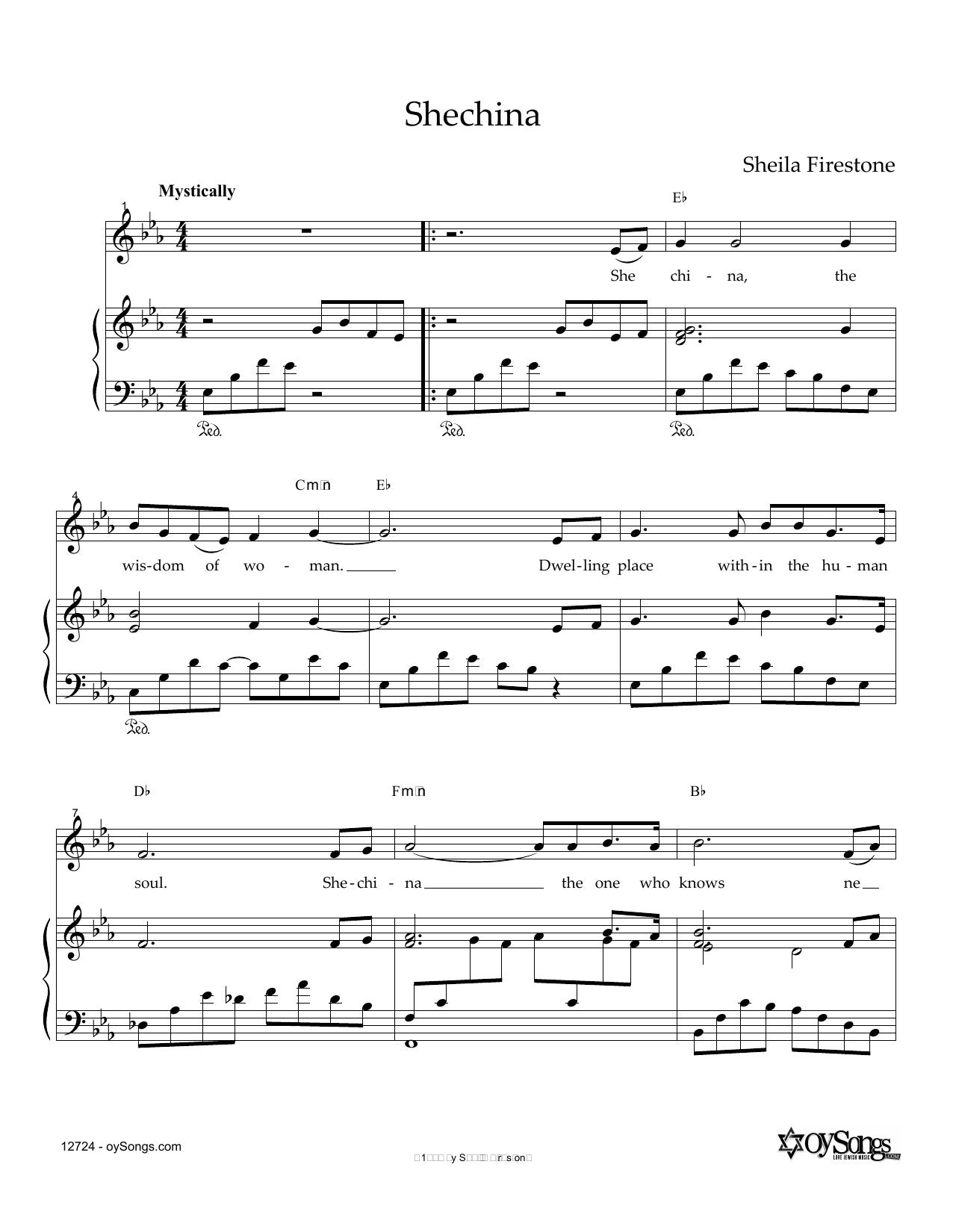 Shechina Sheet Music