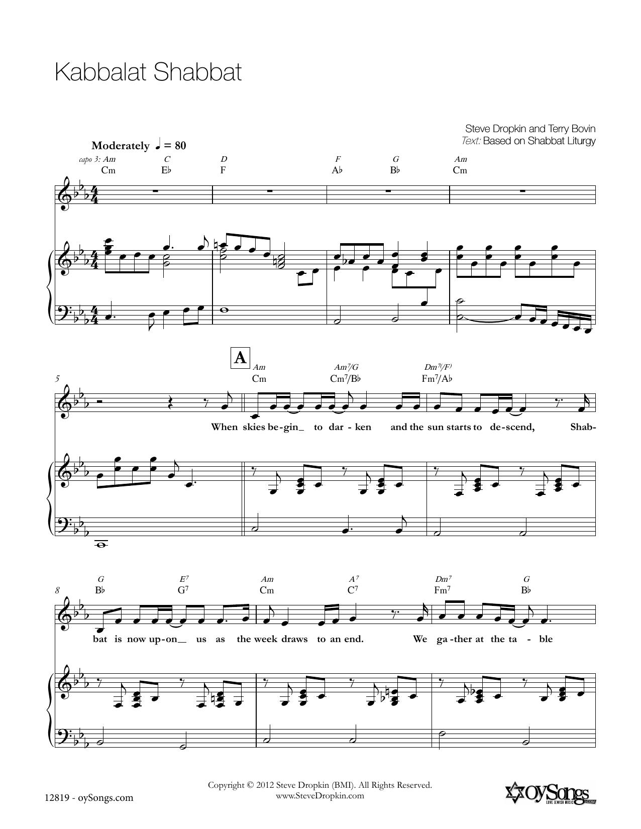 Kabbalat Shabbat Sheet Music