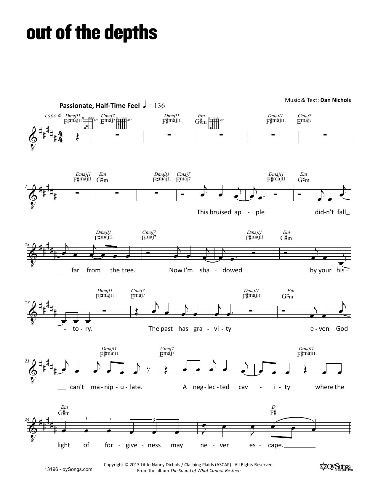 Out of the Depths Sheet Music