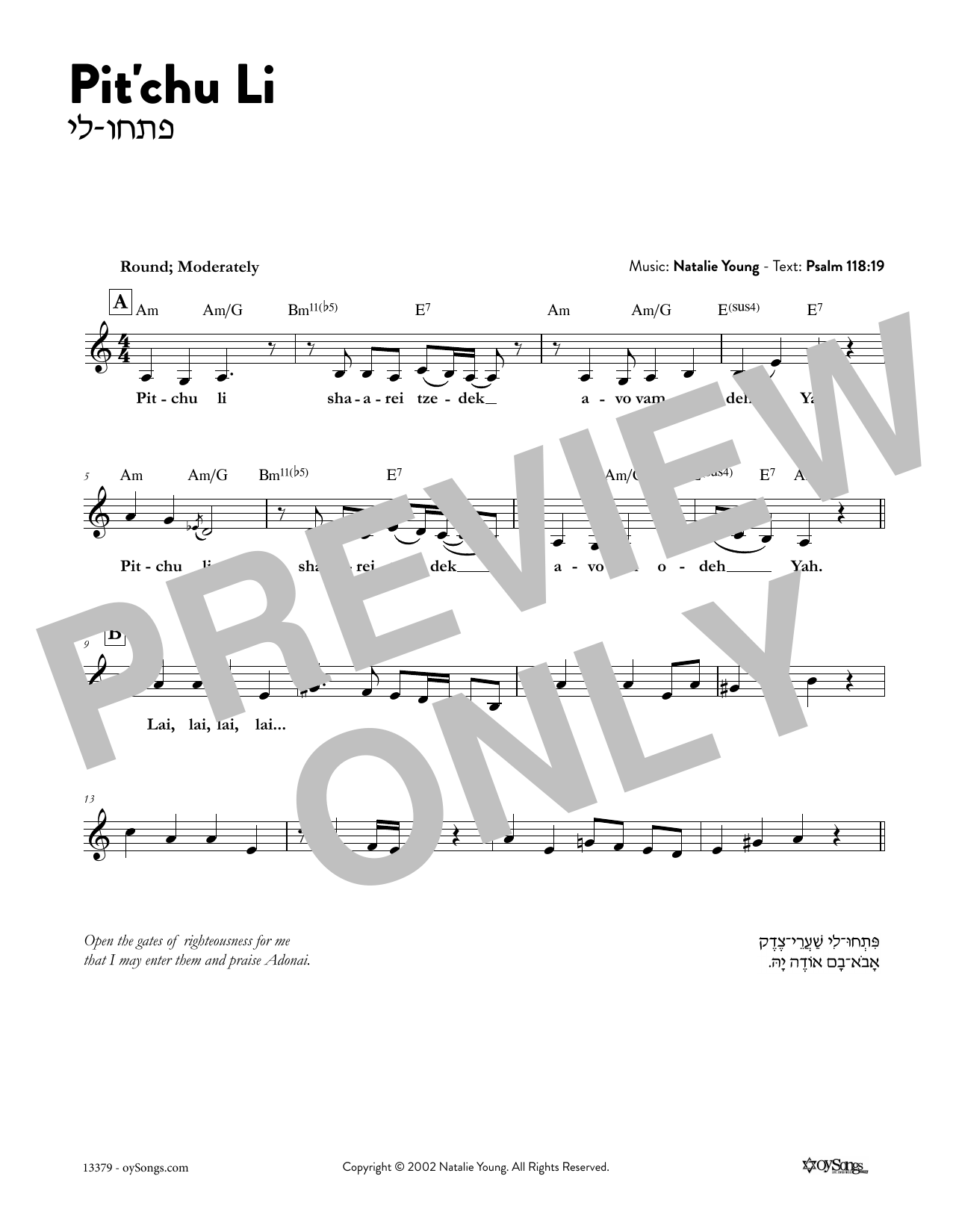 Pitchu Li Sheet Music