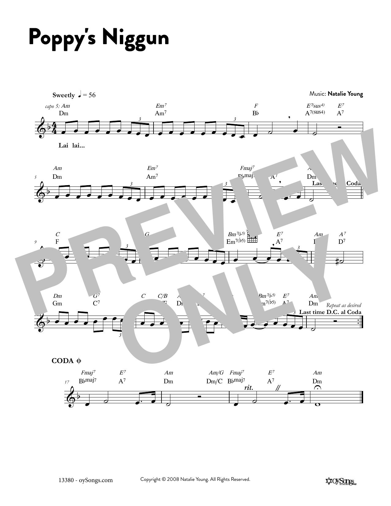 Poppy's Niggun Sheet Music