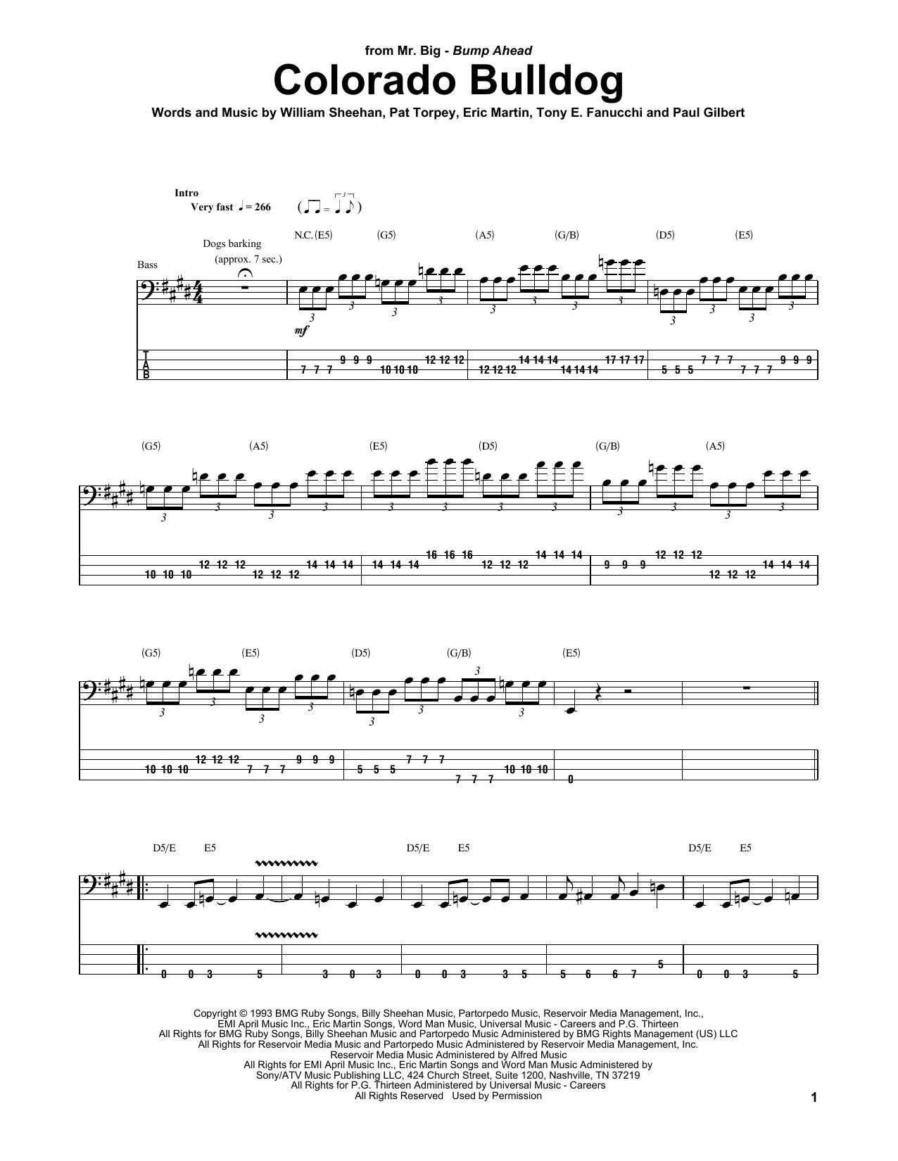 Colorado Bulldog Sheet Music