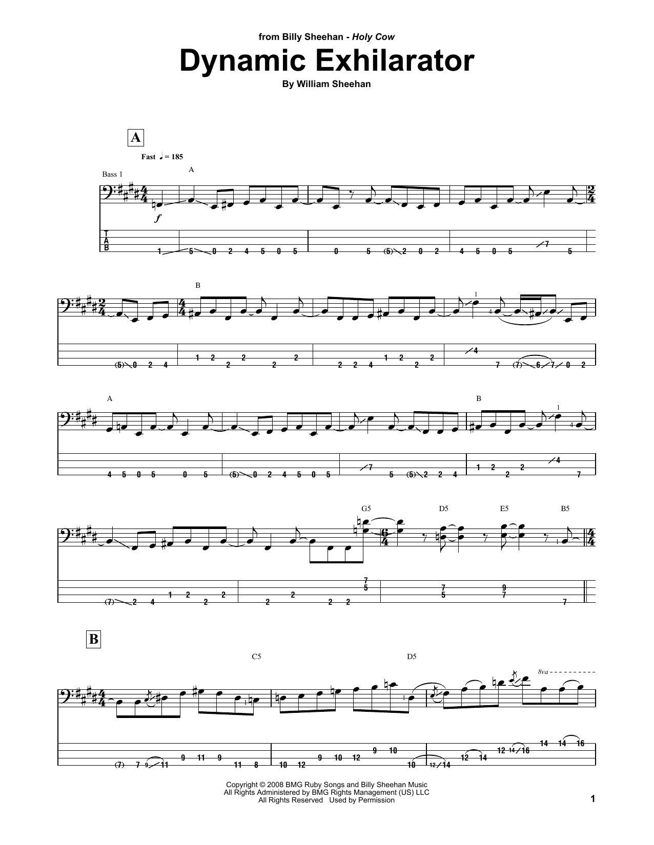 Dynamic Exhilarator Sheet Music