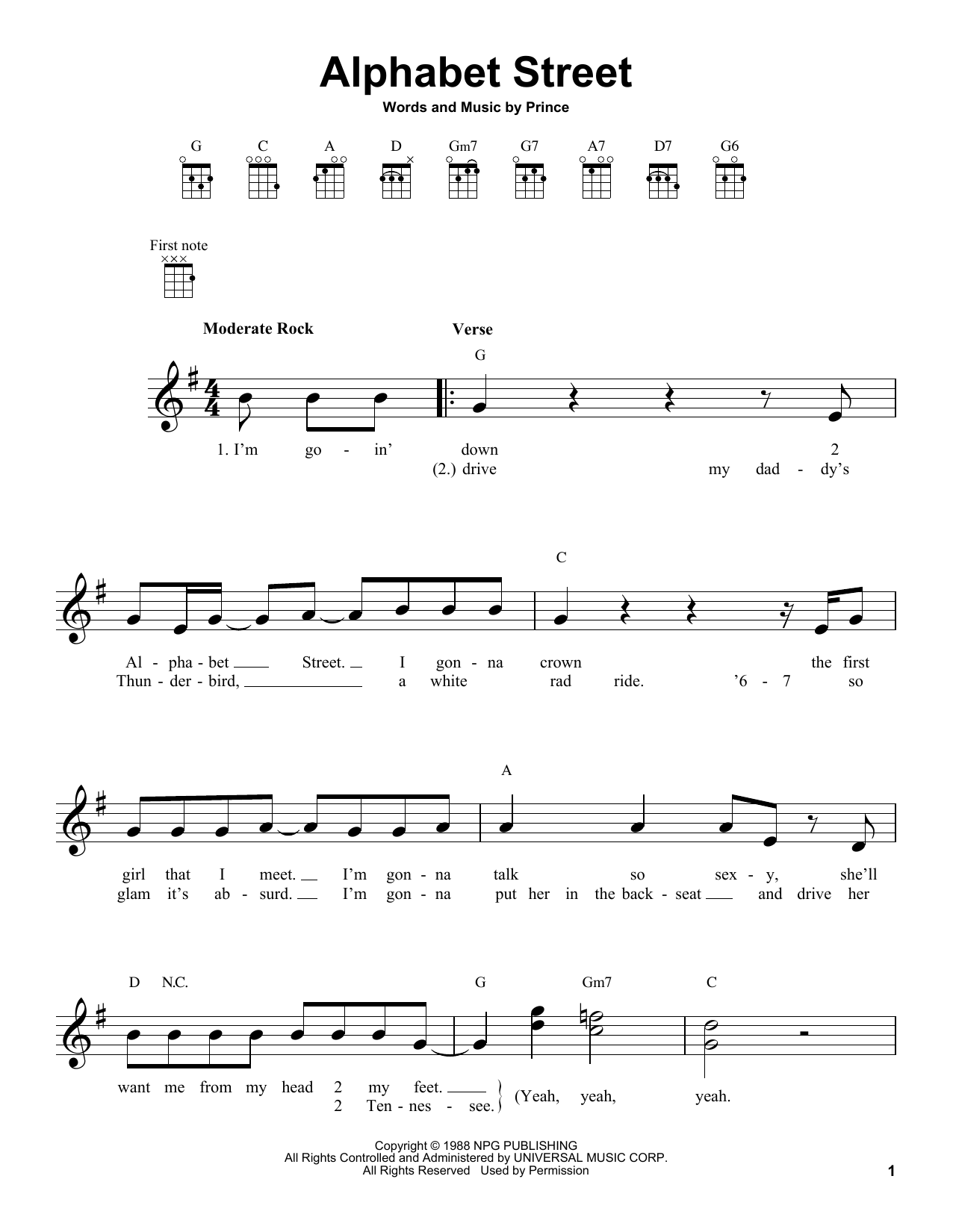 Alphabet Street Sheet Music