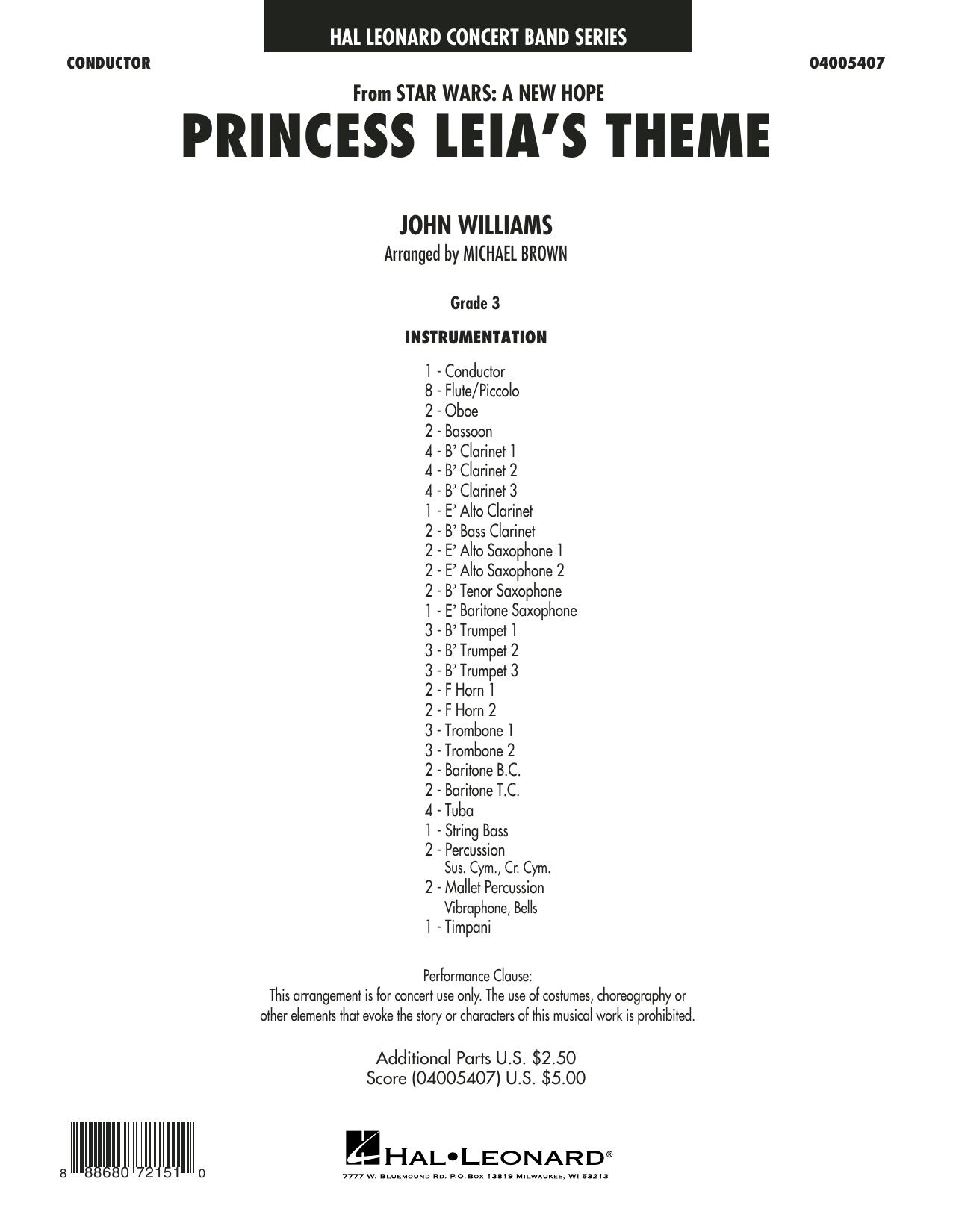 Princess Leia's Theme - Conductor Score (Full Score) (Concert Band)