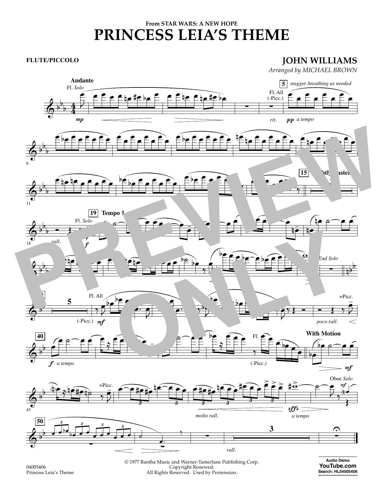 Princess Leia's Theme - Flute/Piccolo (Concert Band)