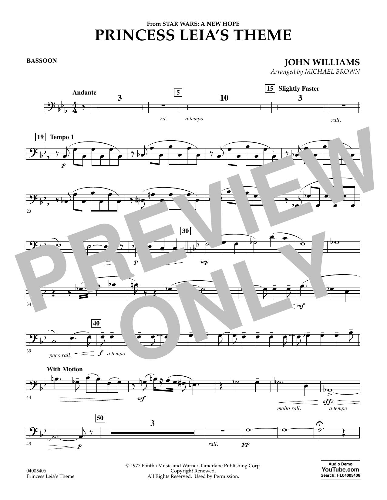 Princess Leia's Theme - Bassoon (Concert Band)