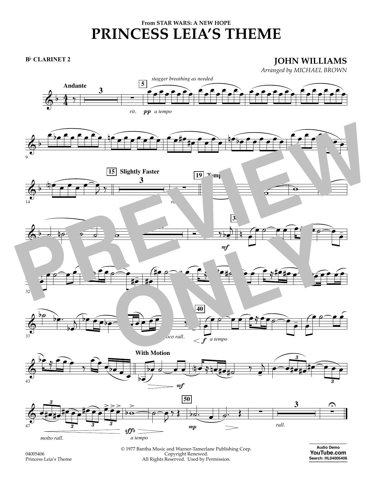 Princess Leia's Theme - Bb Clarinet 2 (Concert Band)