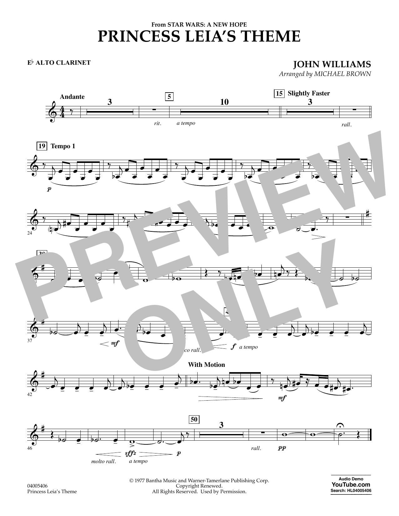 Princess Leia's Theme - Eb Alto Clarinet (Concert Band)