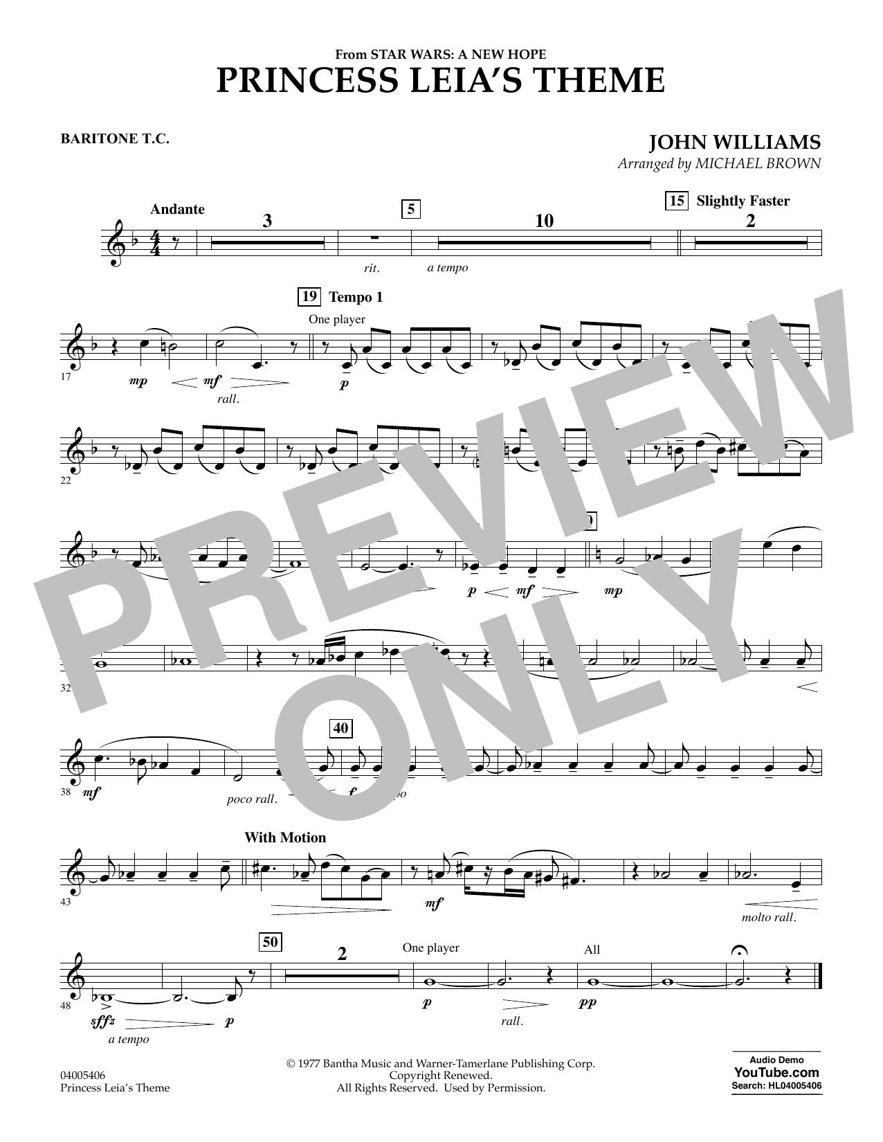 Princess Leia's Theme - Baritone T.C. (Concert Band)