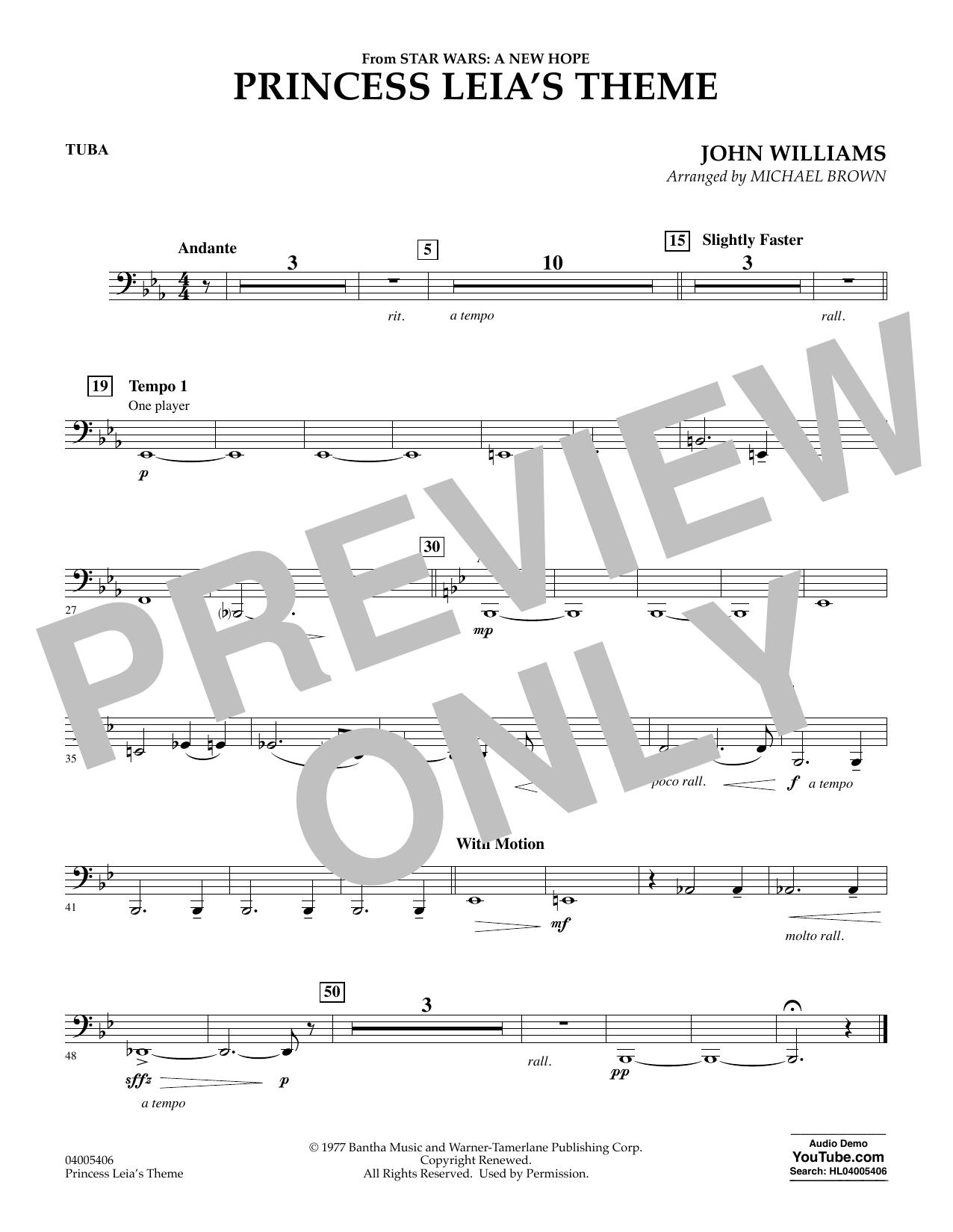 Princess Leia's Theme - Tuba (Concert Band)