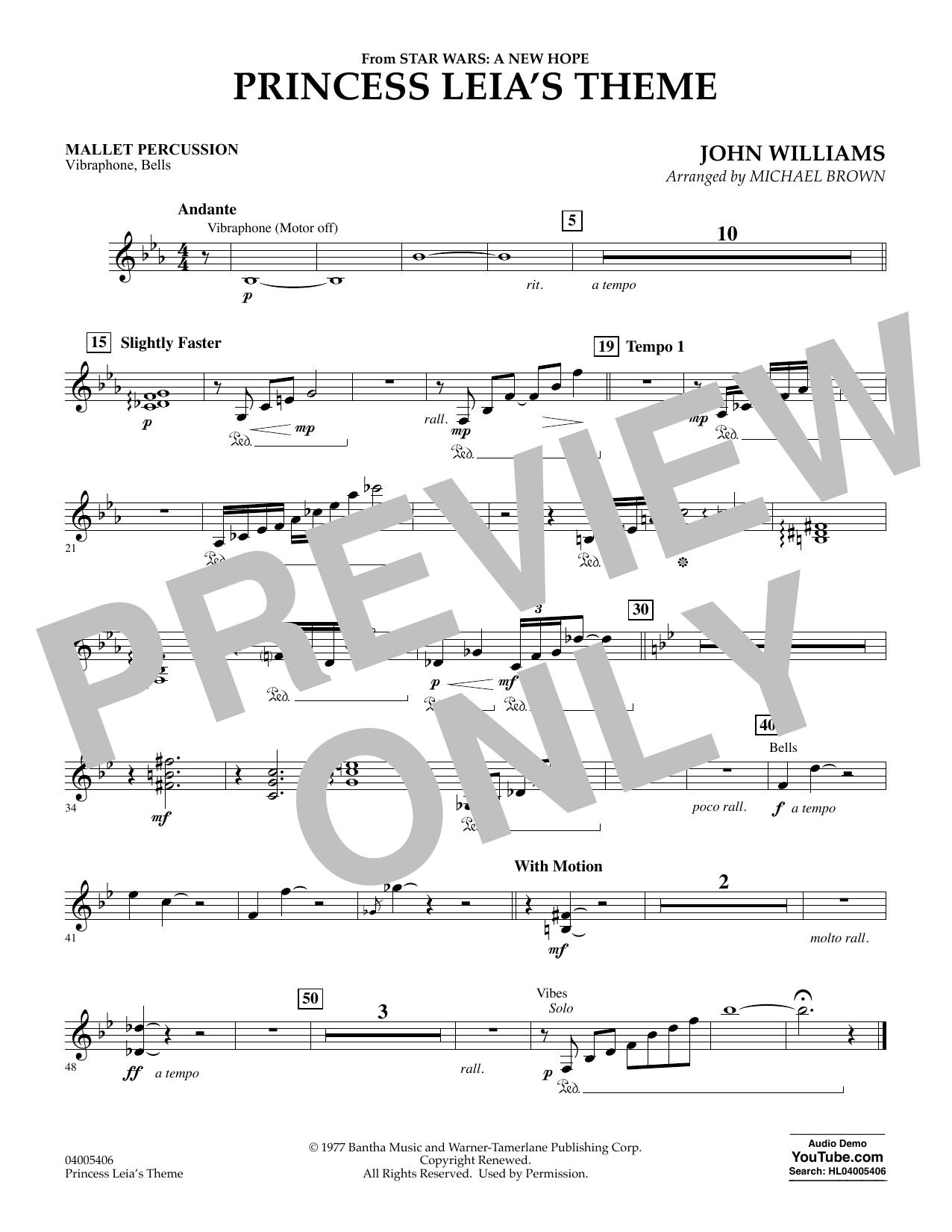 Princess Leia's Theme - Mallet Percussion (Concert Band)