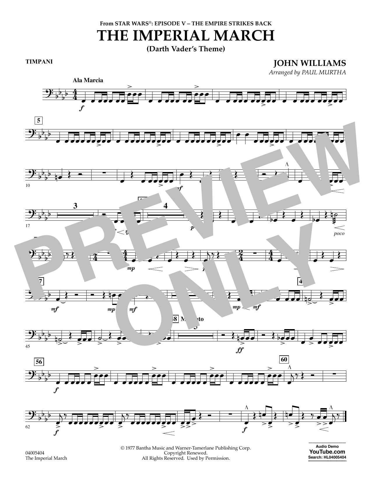 The Imperial March (Darth Vader's Theme) - Timpani (Concert Band)