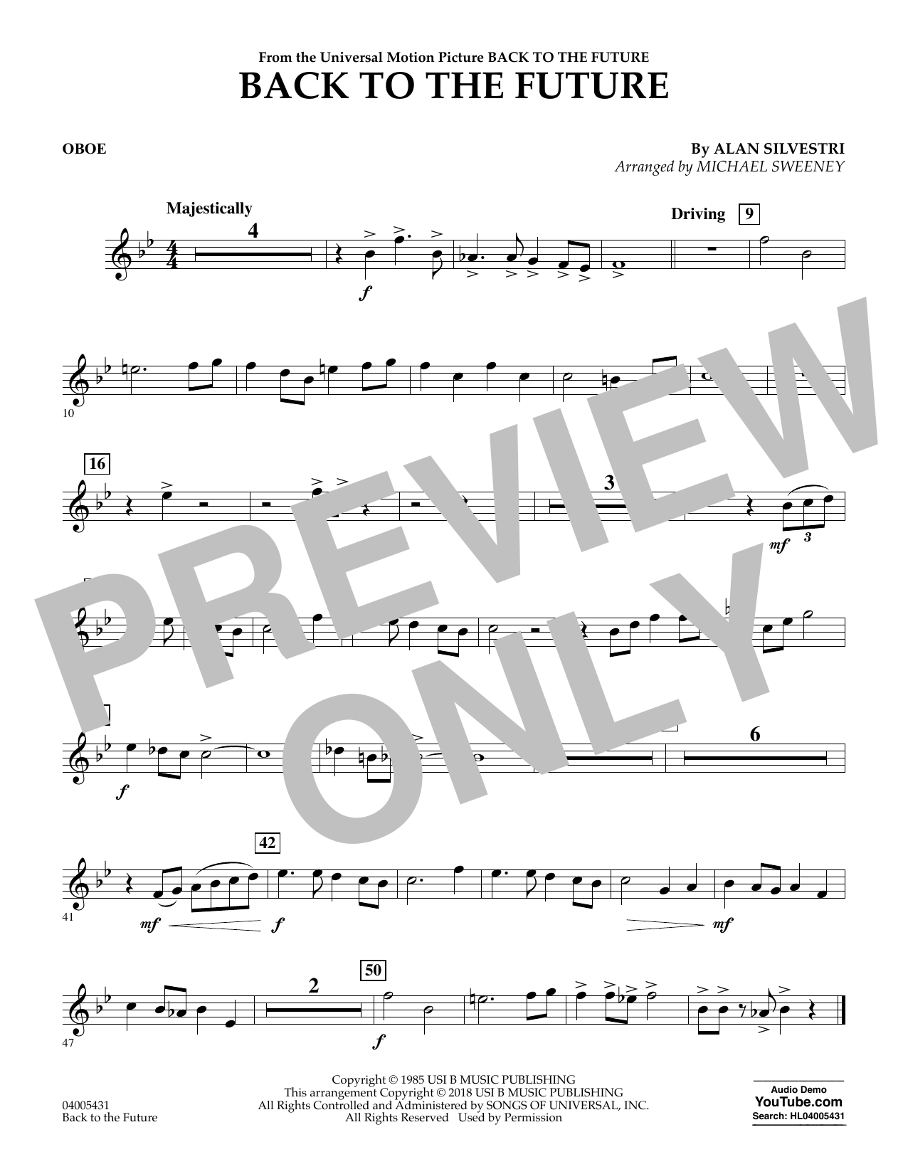 Back to the Future - Oboe (Concert Band)