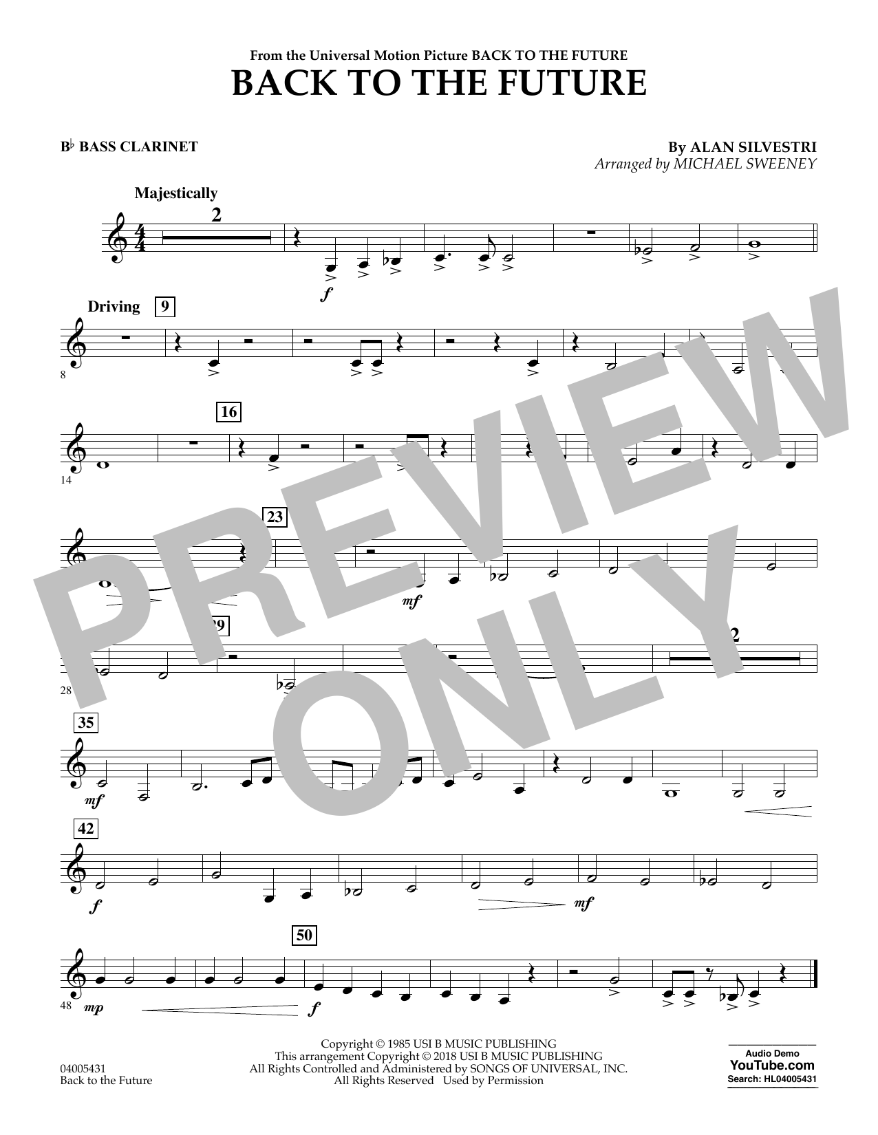 Back to the Future - Bb Bass Clarinet (Concert Band)