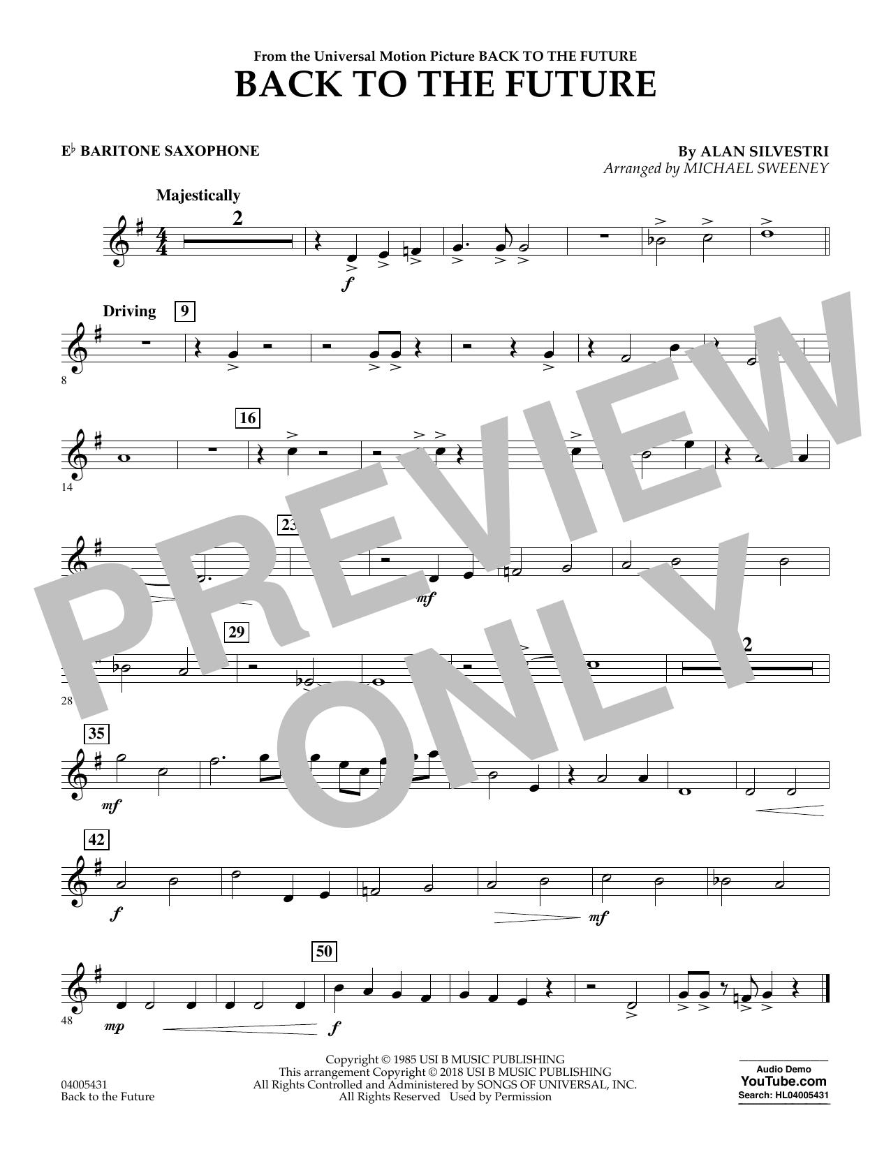Back to the Future - Eb Baritone Saxophone (Concert Band)
