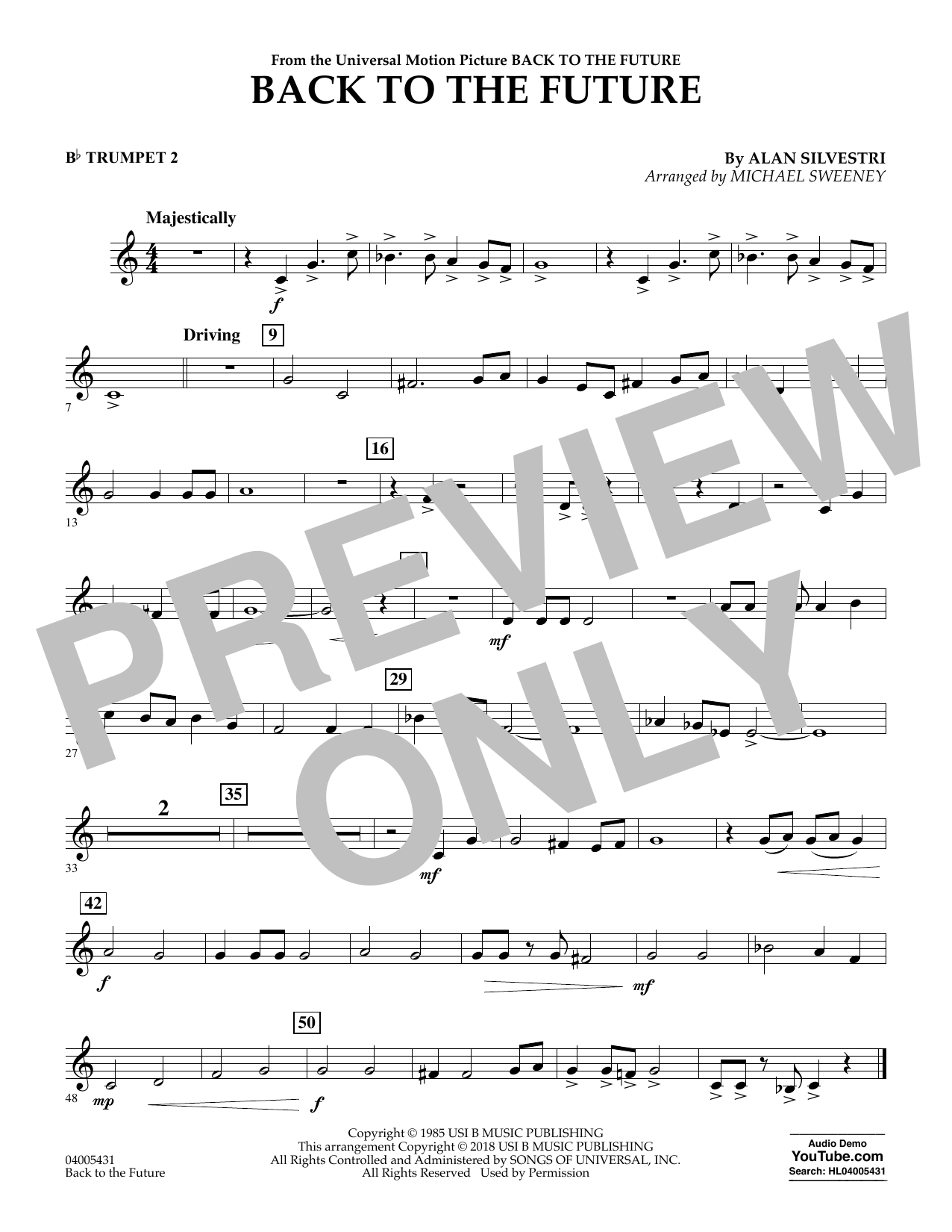Back to the Future - Bb Trumpet 2 (Concert Band)