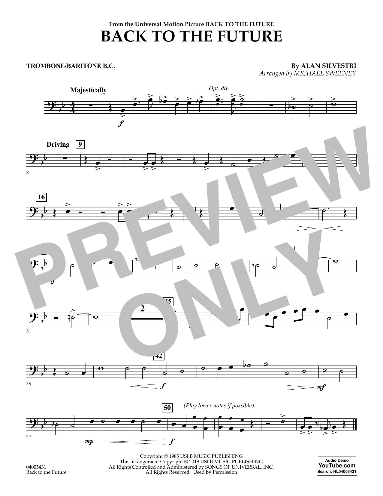 Back to the Future - Trombone/Baritone B.C. (Concert Band)