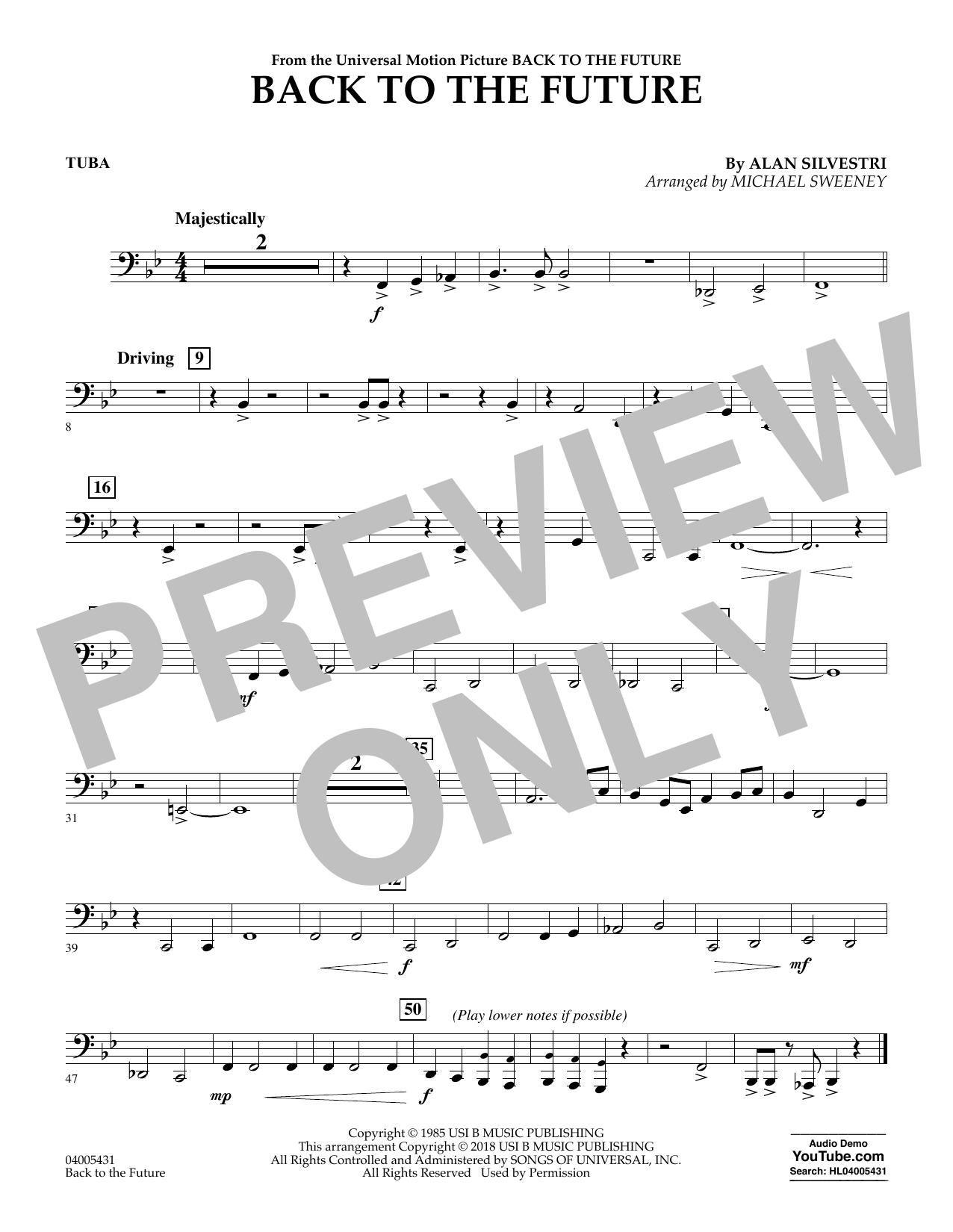 Back to the Future - Tuba (Concert Band)