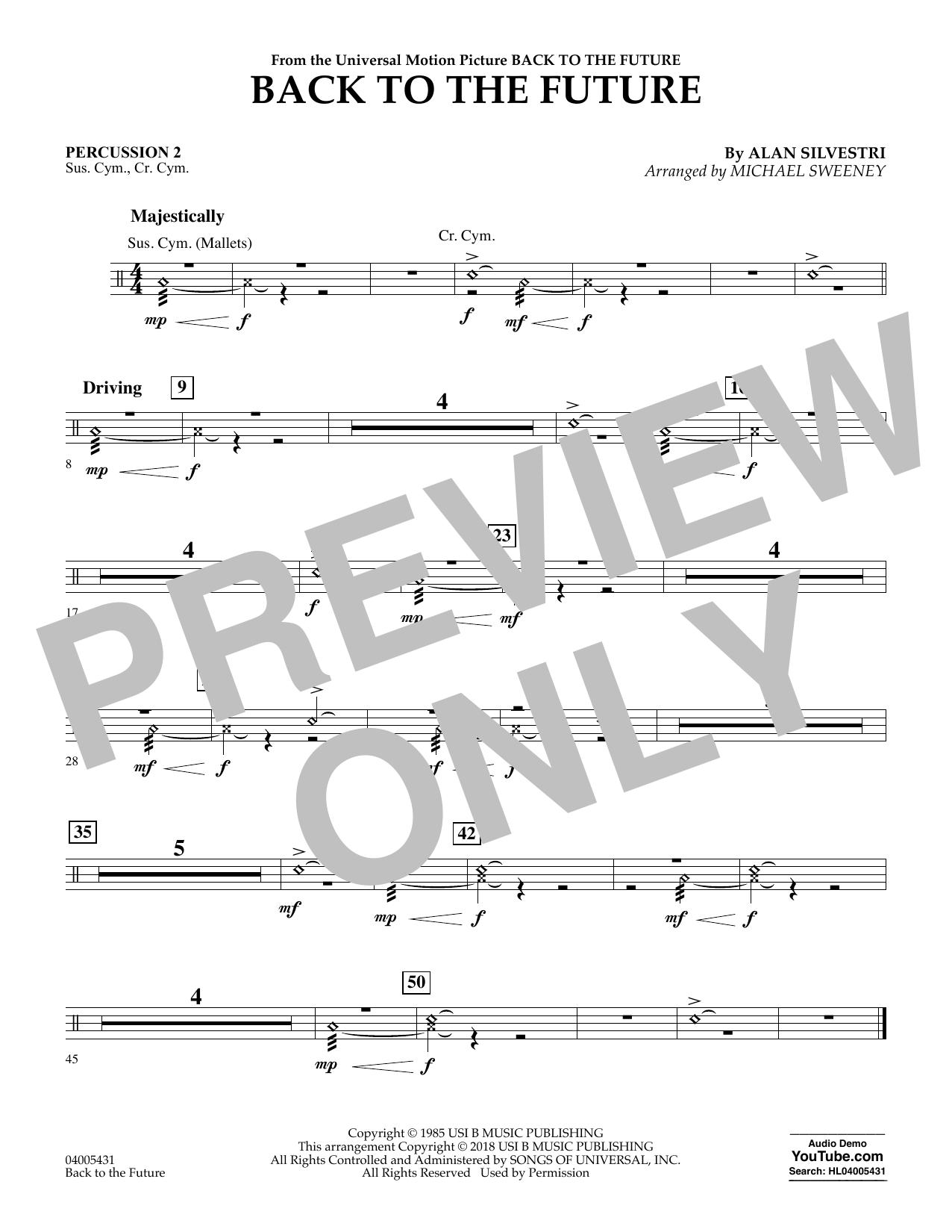 Back to the Future - Percussion 2 (Concert Band)