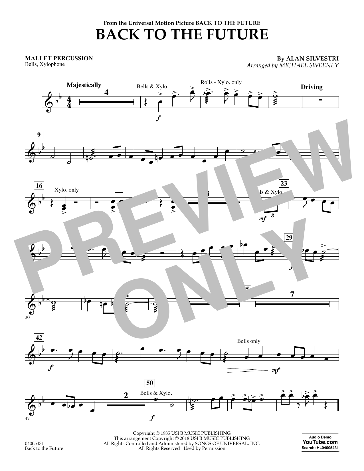 Back to the Future - Mallet Percussion (Concert Band)