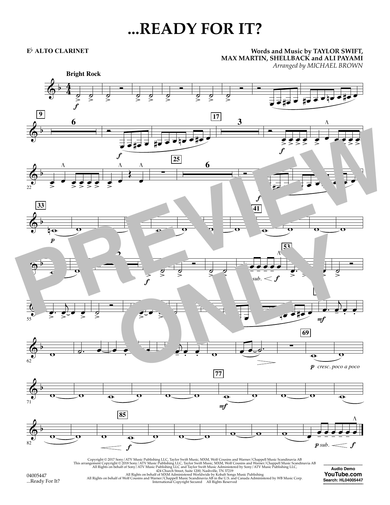 ...Ready for It? - Eb Alto Clarinet (Concert Band)