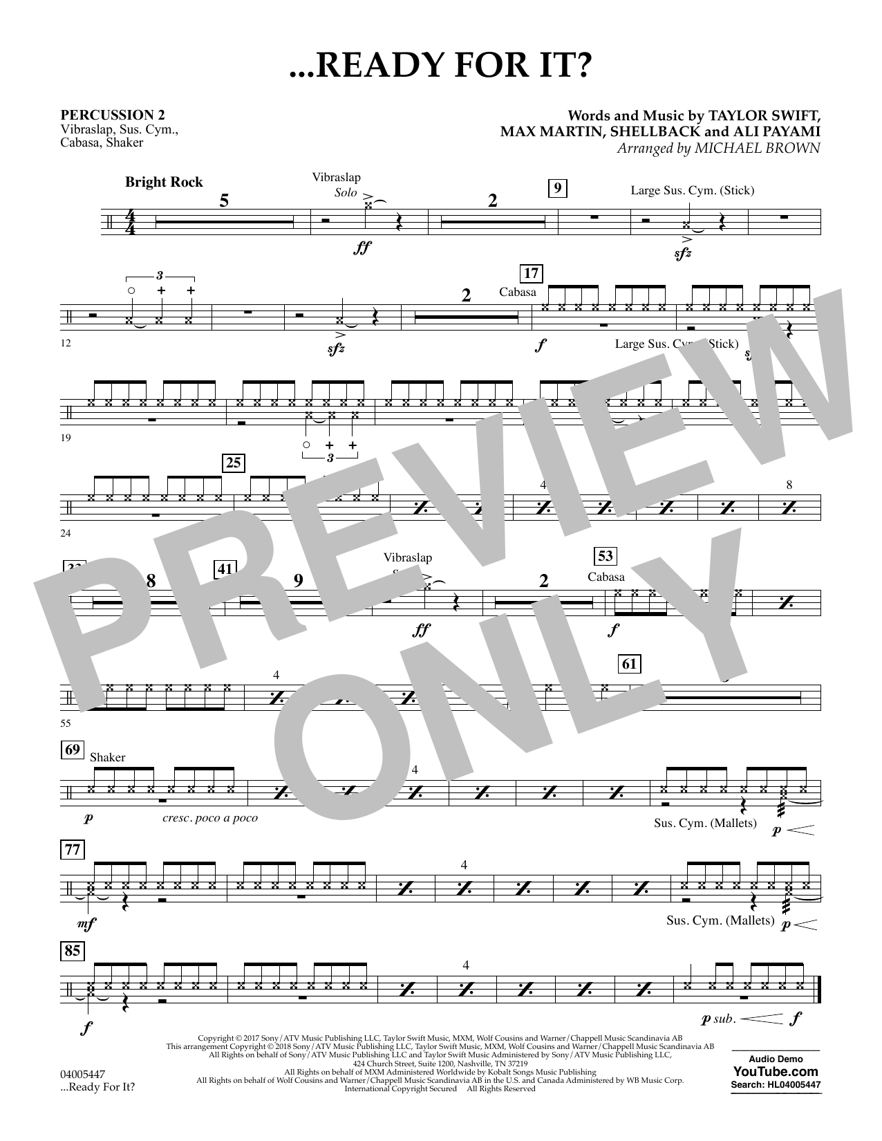 ...Ready for It? - Percussion 2 (Concert Band)