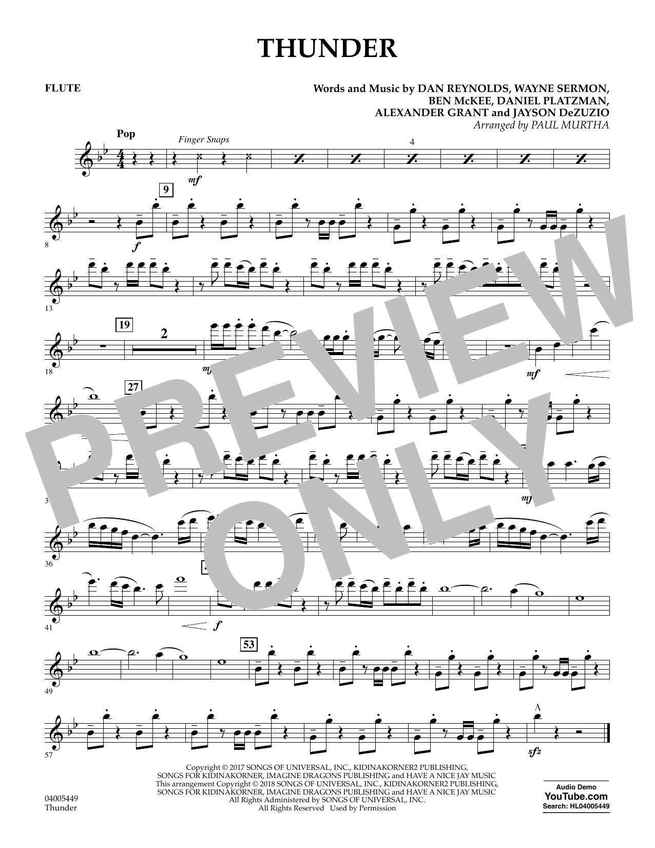 Thunder - Flute (Concert Band)