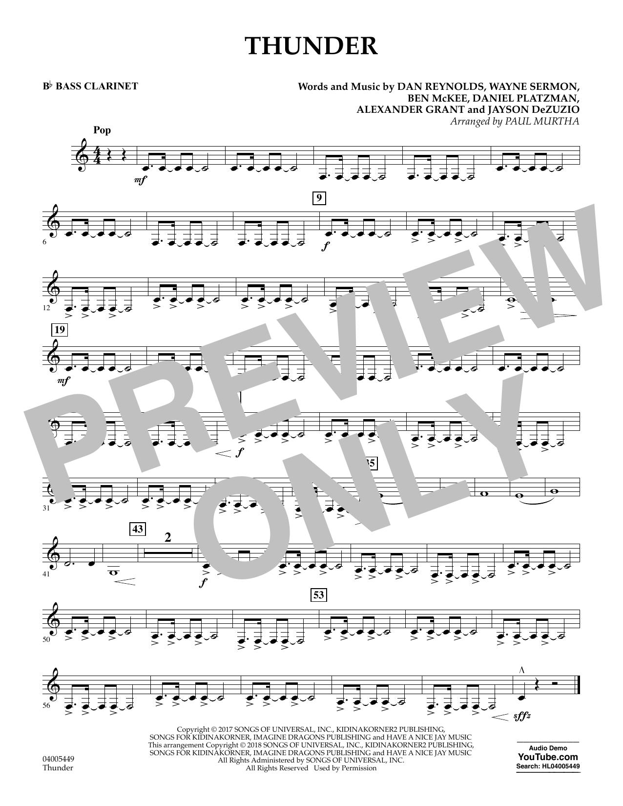 Thunder - Bb Bass Clarinet (Concert Band)