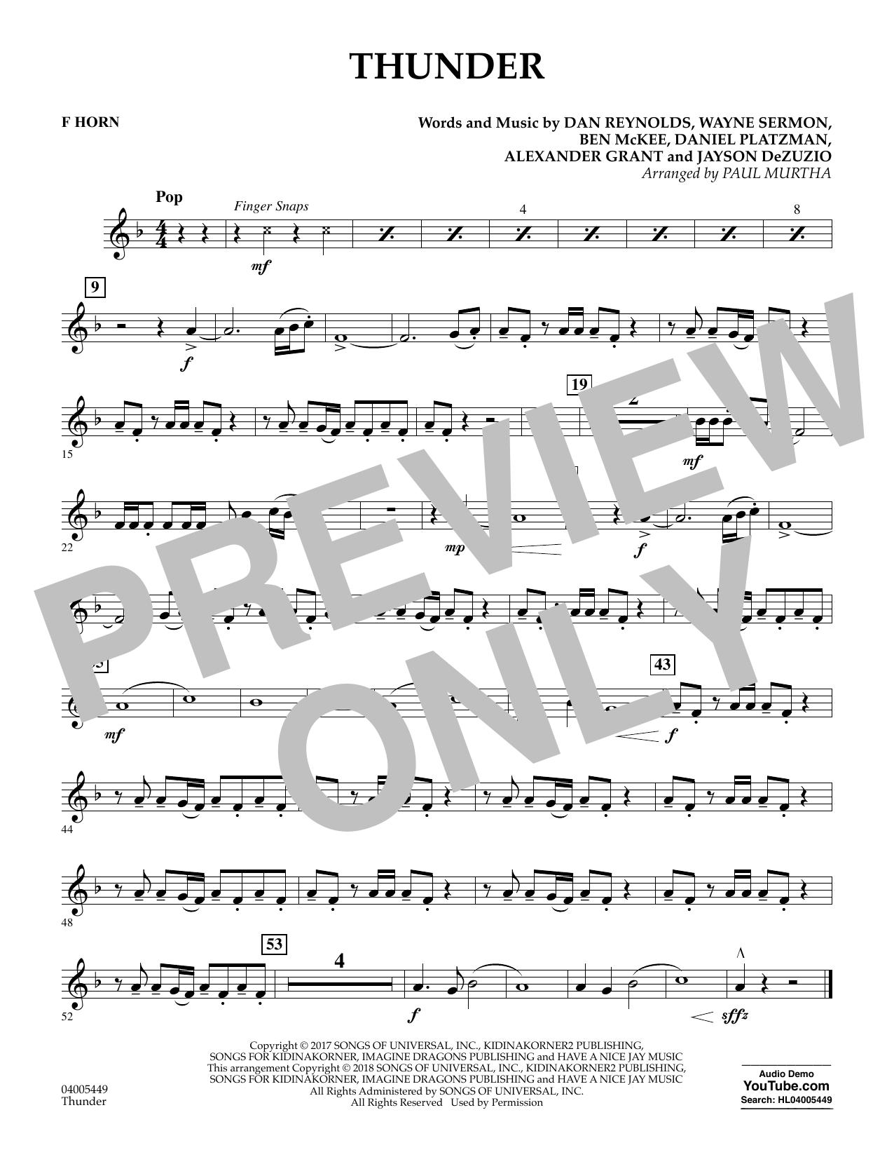 Thunder - F Horn (Concert Band)