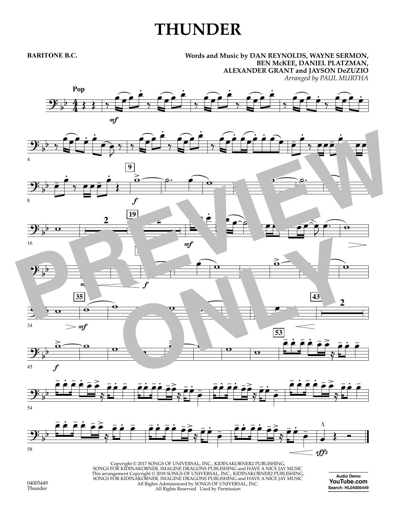 Thunder - Baritone B.C. (Concert Band)