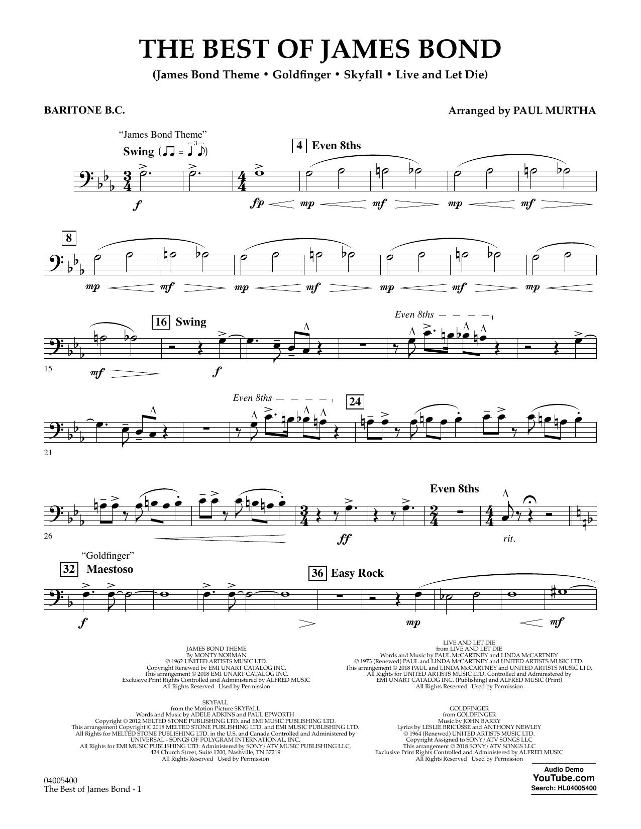 The Best of James Bond - Baritone B.C. (Concert Band)