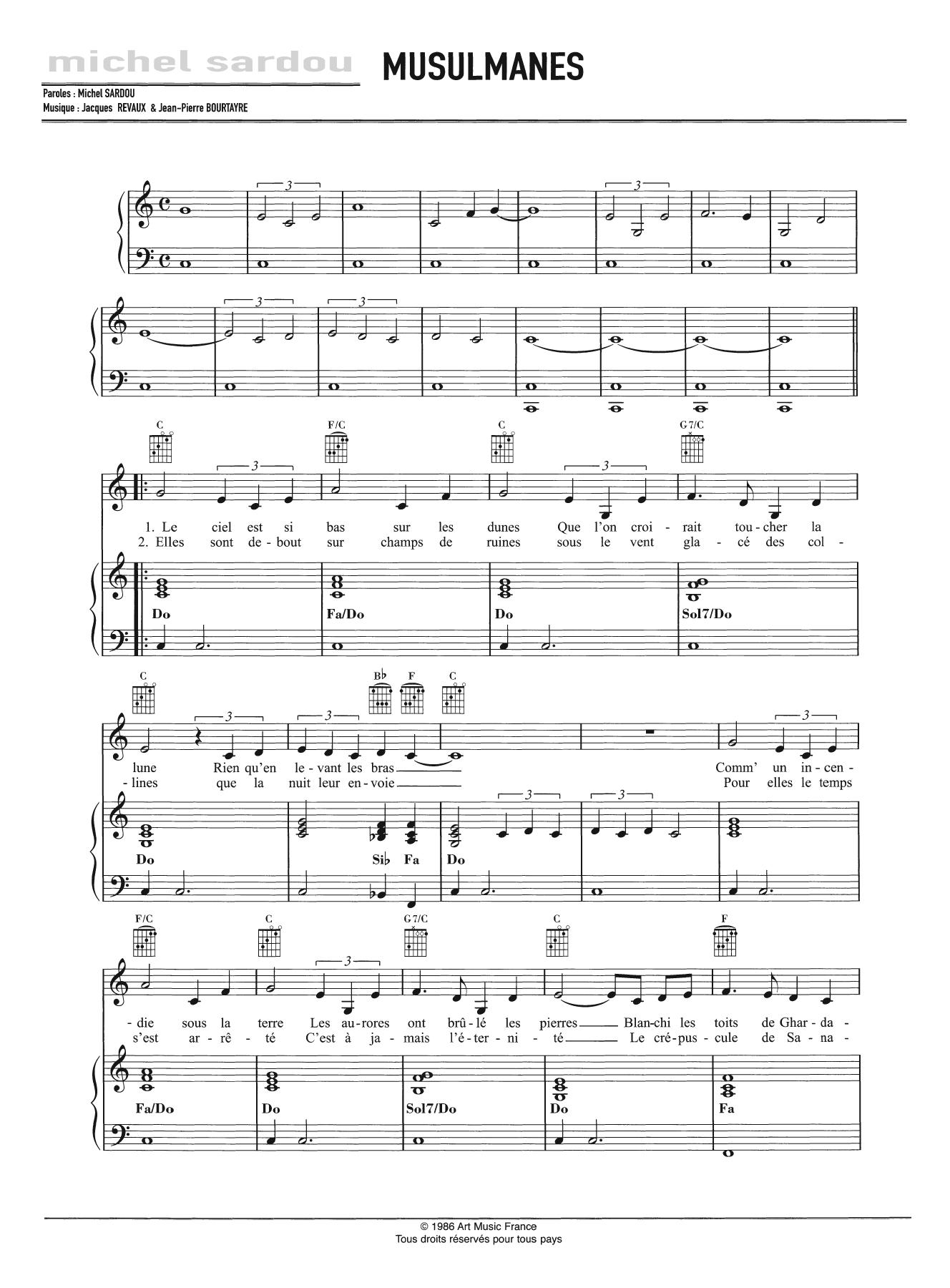 Musulmanes Sheet Music