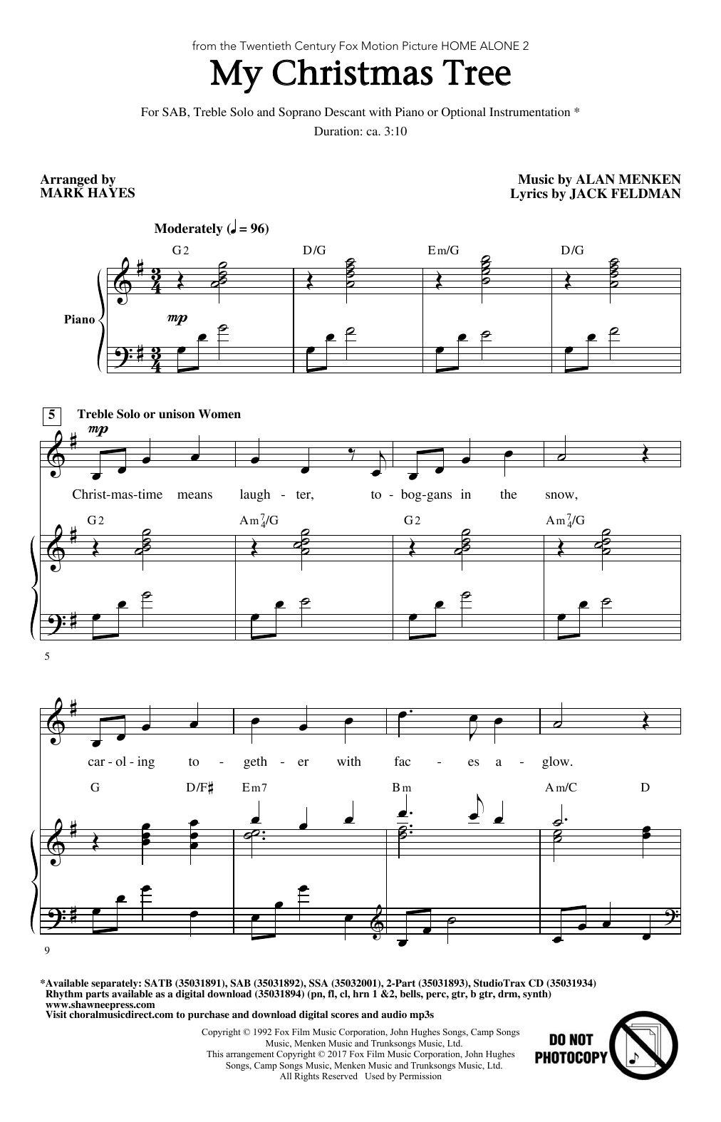 My Christmas Tree Sheet Music