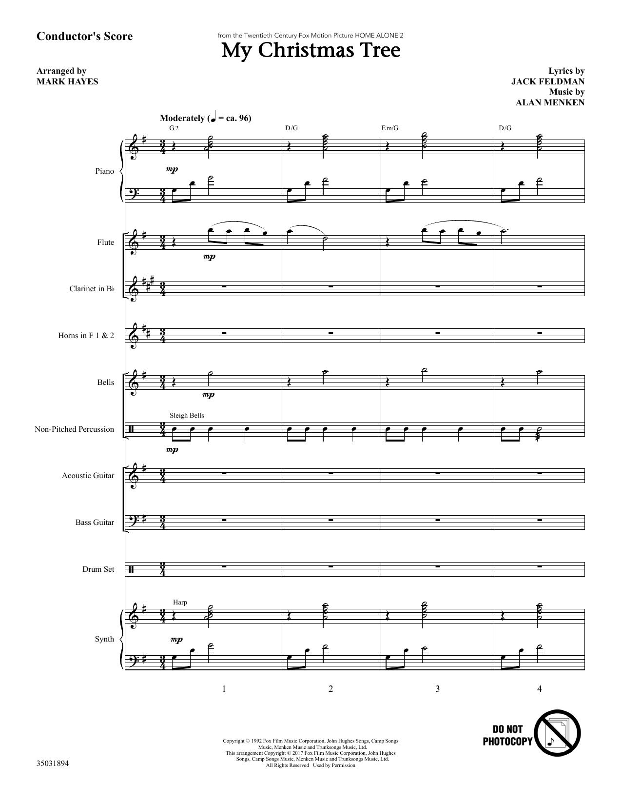 My Christmas Tree - Full Score (Choir Instrumental Pak)